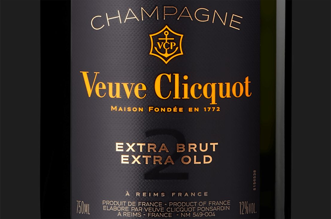 Label Veuve Clicquot Champagne Extra Brut Extra Old 2