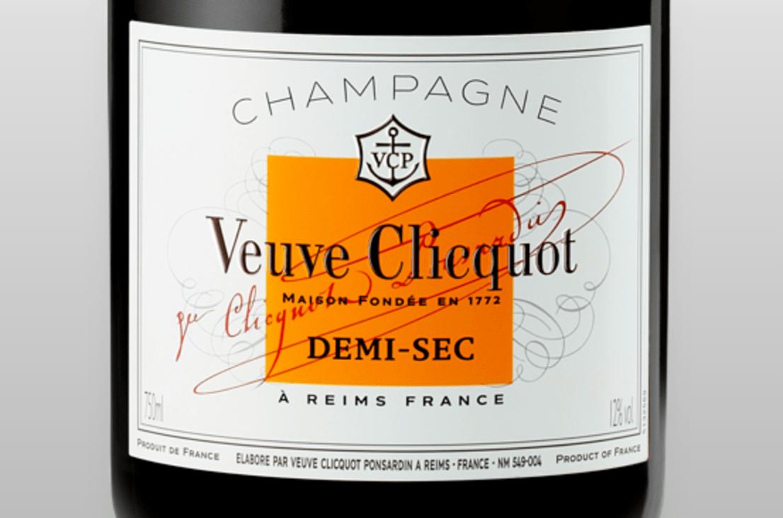 Label Veuve Clicquot Champagne Demi-Sec