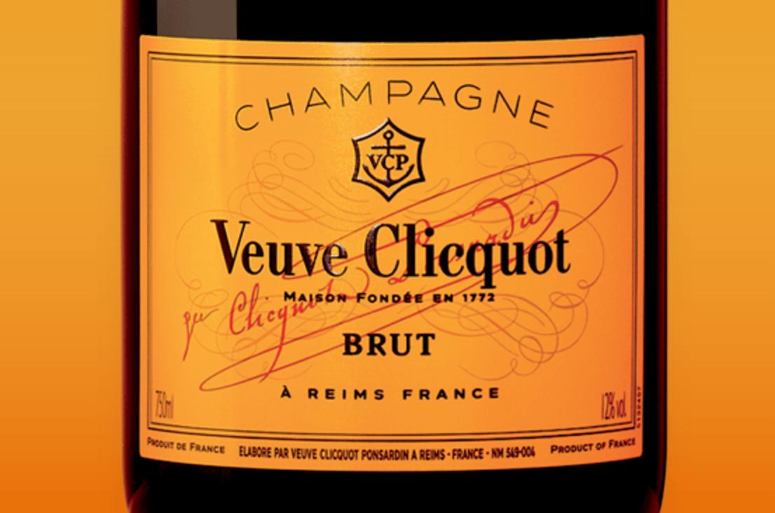 Label Veuve Clicquot Champagne Brut